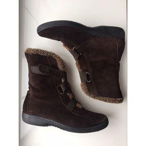 Stuart Weitzman Fur Lined Ankle Snow Boots